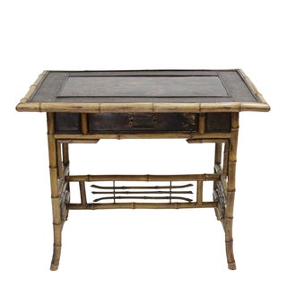 19th Century English Bamboo Lacquered Table