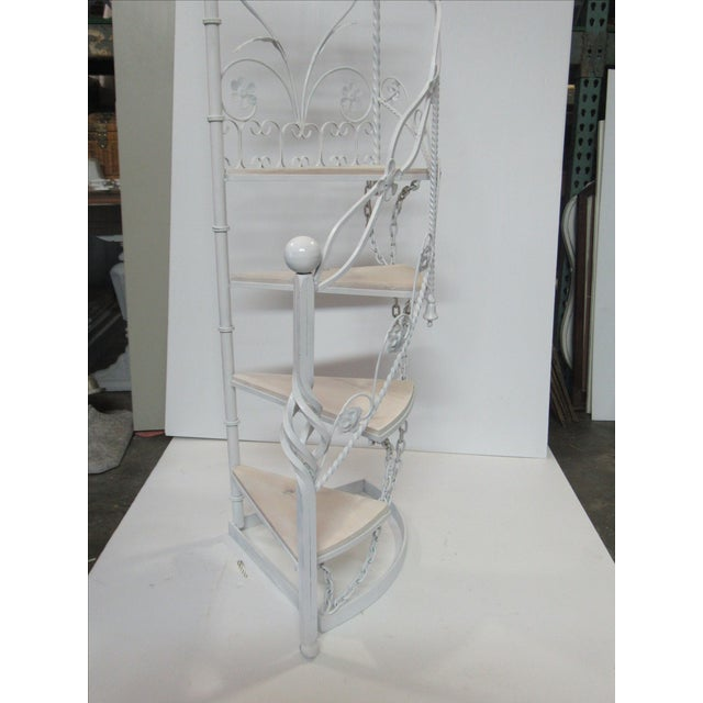 Wrought Iron Garden Staircase Planter Display For Sale - Image 9 of 9