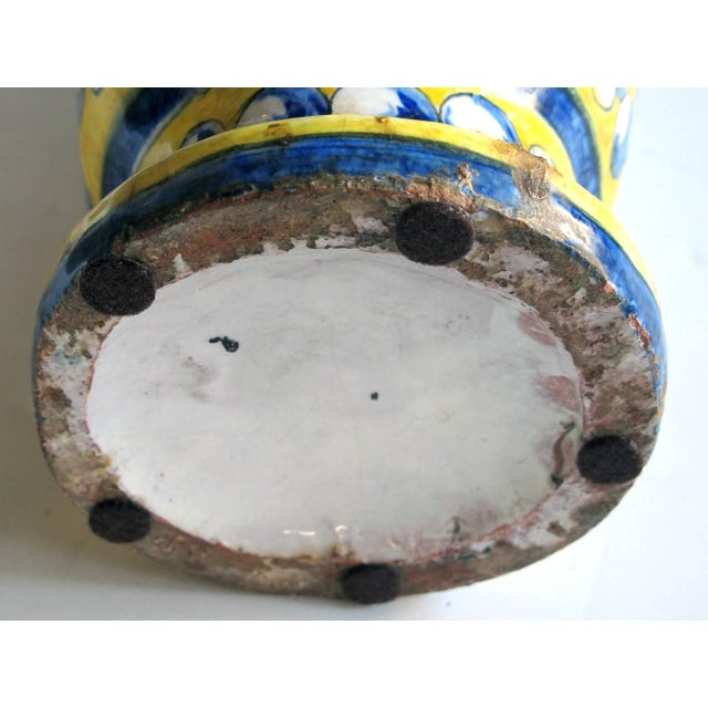 An Italian Tin-Glazed Earthenware Polychrome (majolica) double handled vase - Image 6 of 6
