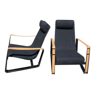 Jean Prouve Cite Lounge Chairs- A Pair For Sale