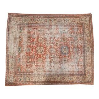 """Antique Distressed Mahal Carpet - 10'6"""" x 12'9"""""""