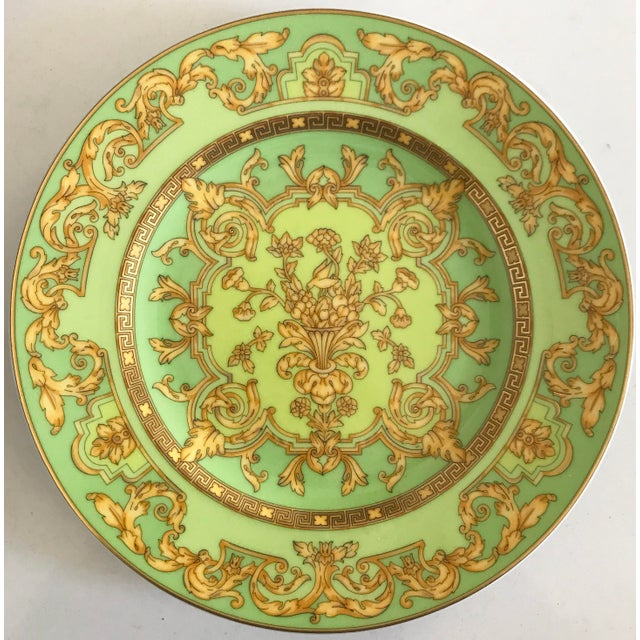 "Versace by Rosenthal ""Green Floralia"" Small Plates- Set of 6 - Image 2 of 5"
