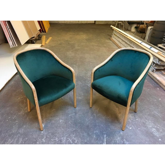 1980s Vintage Ward Bennet Cerused Oak Chairs- A Pair For Sale - Image 12 of 12