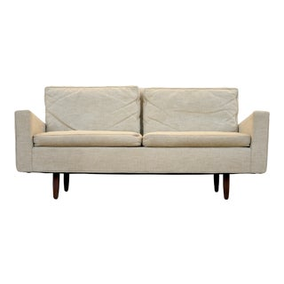 1940s Vintage Florence Knoll Model 26 Two Seat Sofa Mid Century For Sale