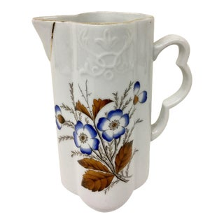 Antique French Porcelain Pitcher For Sale
