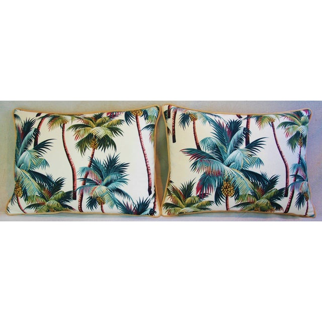 Designer Tropical Coconut Palm Tree Pillows - Pair - Image 5 of 10