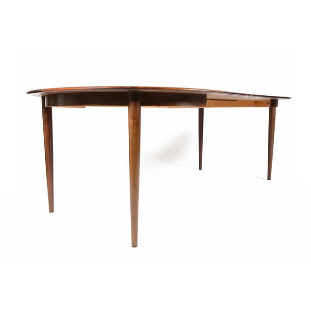 Rosewood Circular Dining Table With Two Leaves - Image 10 of 10