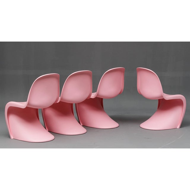"""Mid-Century Modern 1950s Vintage Verner Panton """"S"""" Chairs- Set of 4 For Sale - Image 3 of 7"""