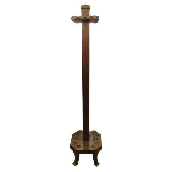 Antique Brunswick Billiard Cue Rack - Image 2 of 6