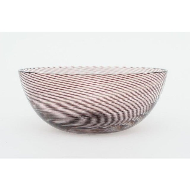 Murano Glass Bowl by Venini Signed 1982 For Sale In West Palm - Image 6 of 7