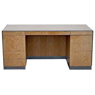 1980s Mid-Century Modern GF Davis Allen Oak Executive Desk For Sale