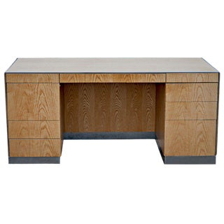 1980s Mid-Century Modern Gf Davis Allen Oak Executive Desk Mr12553 For Sale