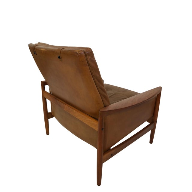 1960s Vintage Erik Worts Danish Armchair For Sale In Seattle - Image 6 of 13