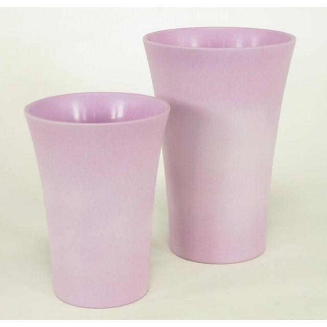 Incredible Set Three Scheurich Ceramic Matte Glazed Lavender Vases