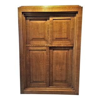 English Art Deco / Art Moderne Oak Cabinet