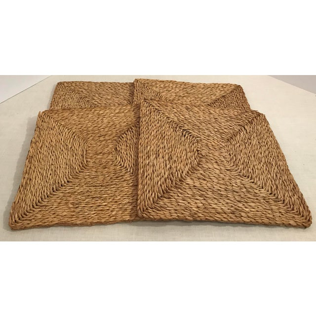 Fiber Vintage Woven Straw Placemats- Set of 4 For Sale - Image 7 of 7