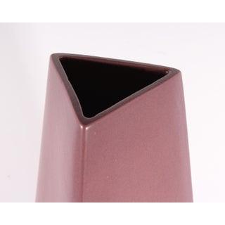 James Johnston Modernist Mauve Triangular Ceramic Vase Preview