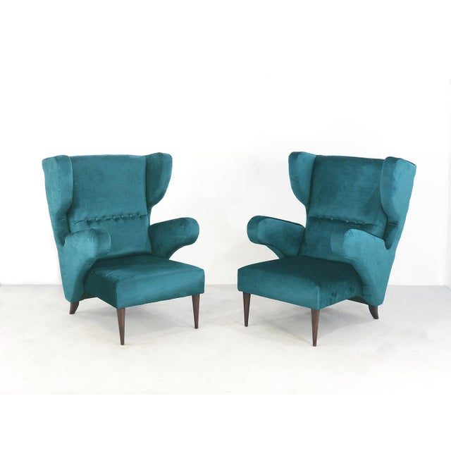 Pair of 50s Armchairs Attributed to Melchiorre Bega For Sale - Image 9 of 9