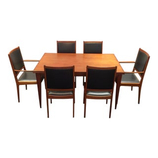 Niels Møller Danish Teak Dining Table and Chairs Set