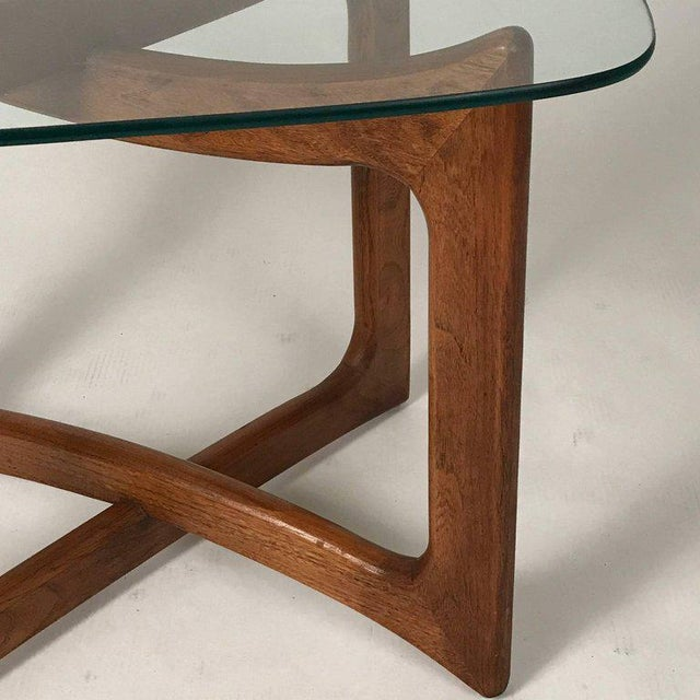 1960s Sculptural Adrian Pearsall for Craft Associates Walnut and Glass Table For Sale - Image 5 of 6