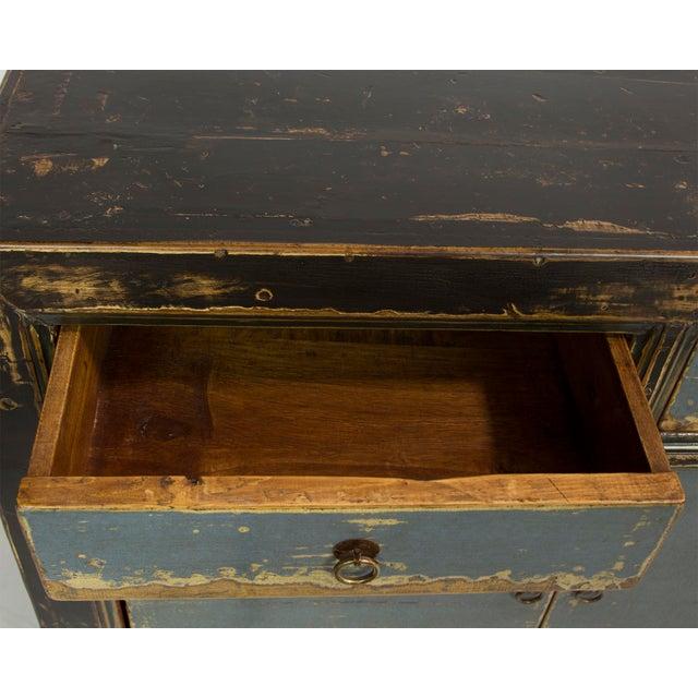 Gansu-Style Blue Antique Cabinet - Image 5 of 5