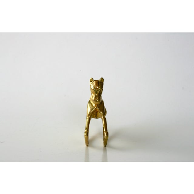 20th Century Childrens Brass Rocking Horse Figurine For Sale - Image 4 of 10