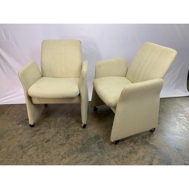 Vladimir Kagan Style Modern Chromcraft Rolling Tilting Club Chairs For Sale - Image 10 of 10