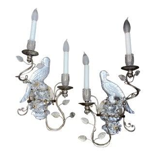 Maison Baguès Style European Crystal Sconces - a Pair For Sale