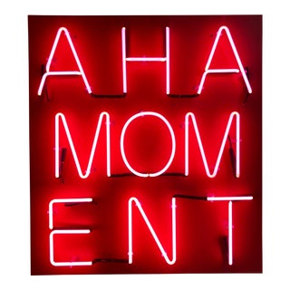"""Aha Moment"" Acrylic & Neon on Panel by William Finlayson For Sale"