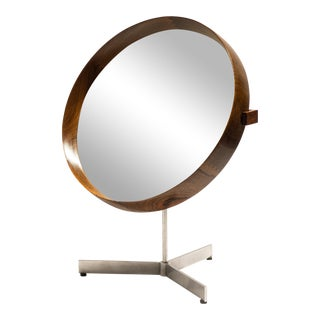 Uno and Osten Kristiansson Rosewood Table Mirror for Luxus For Sale
