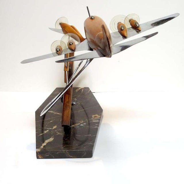 French Art Deco Airplane Sculpture For Sale In Los Angeles - Image 6 of 7
