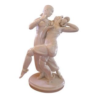 """Oriental Dancers"" Art Nouveau Porcelain Figurine by Gustav Oppel, 1919"