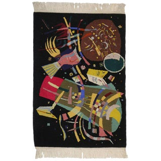 "20th Century Abstract Tapestry Inspired by Wassily Kandinsky's ""Composition X"" For Sale"