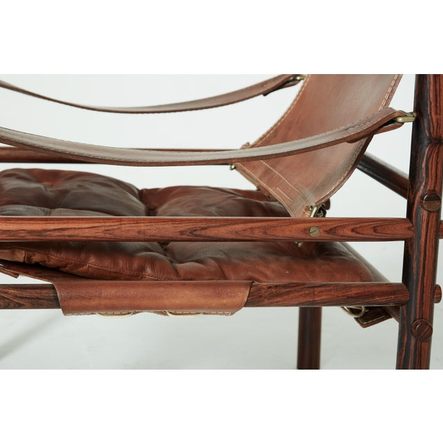 Rare Set of Four Arne Norell Safari Sirocco Chairs, Sweden, 1960s For Sale - Image 12 of 13