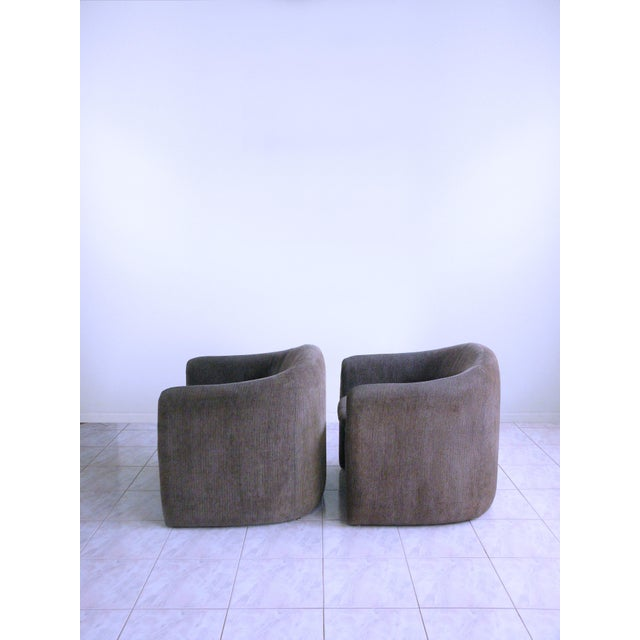 Vladimir Kagan for Preview Biomorphic Freeform Minimalist Armchairs - a Pair For Sale In Chicago - Image 6 of 11