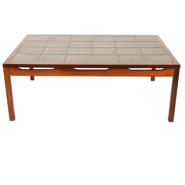 Mid-Century Modern Tile Top Center Table - Image 1 of 4