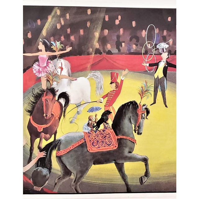 Children's Mid-Century French Double Sided School Poster-Circus, Boy's Room For Sale - Image 3 of 9