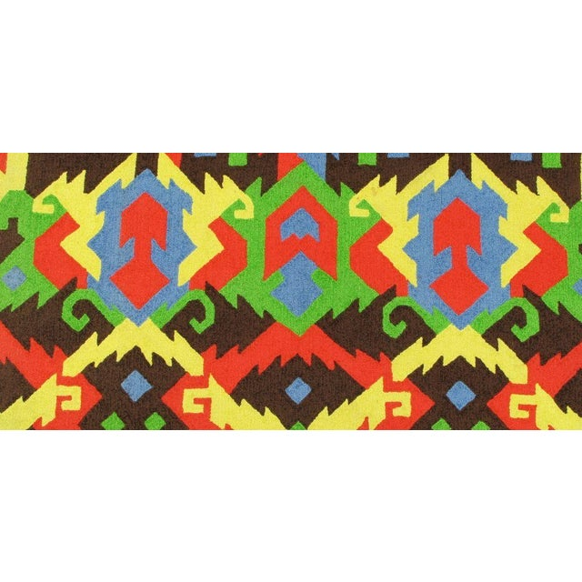 1970s Pair of Edward Fields 1972 Colorful Geometric 6' X 8' Rugs For Sale - Image 5 of 8