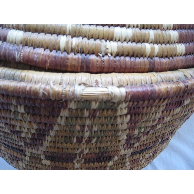 Lidded African Woven Basket - Image 9 of 9