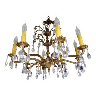Brass Antique Chandelier For Sale