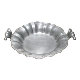 Austrian Pewter Bowl With Handles For Sale