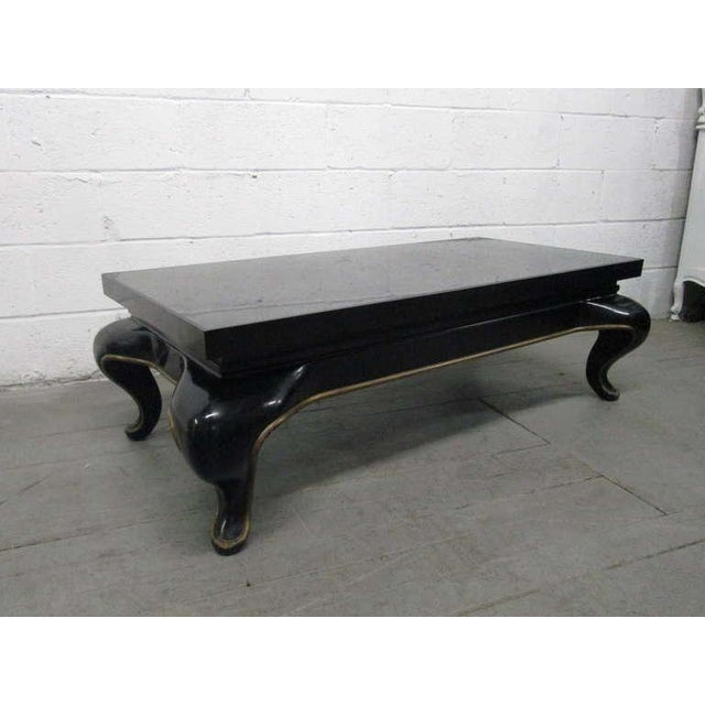 Asian Asian Slate Top Coffee Table Mid Century Modern For Sale - Image 3 of 8