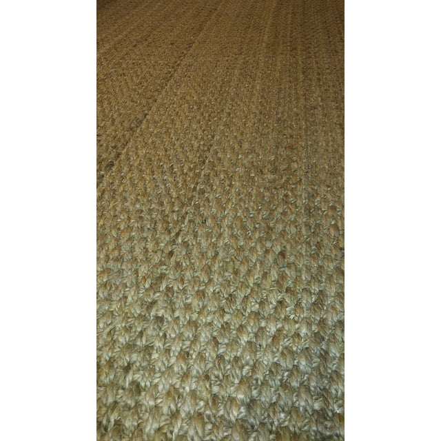 2010s Jute Are Rug With Linen Binding - 13′ × 15′7″ For Sale - Image 5 of 7
