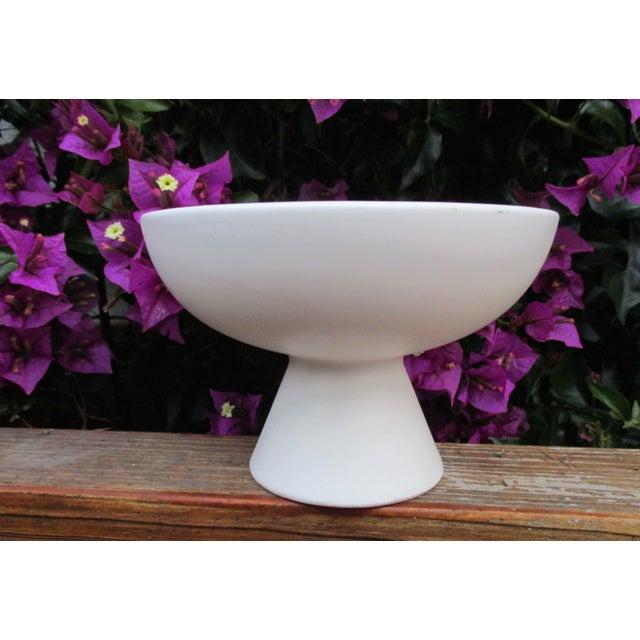 Modernist Matte Ceramic Planter - Image 5 of 8