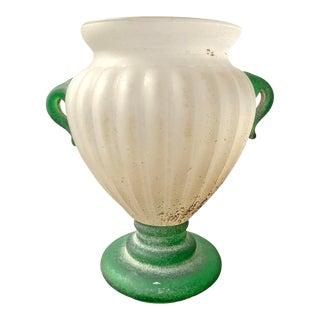 Italian Murano Scavo Vase For Sale