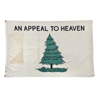 Vintage Appeal to Heaven Cotton Flag For Sale