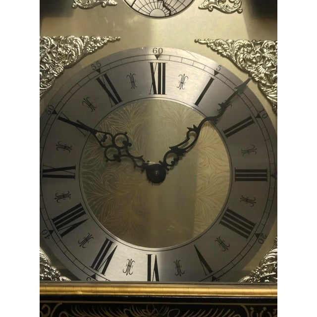 Chinoiserie Tempus Fugit Grandfather Clock - Image 5 of 10