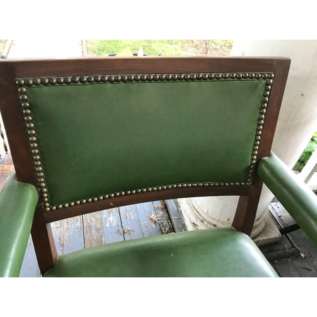 Green 1960's Mid-Century Modern Paoli Green Leather Studded Chairs - Set of 3 For Sale - Image 8 of 12