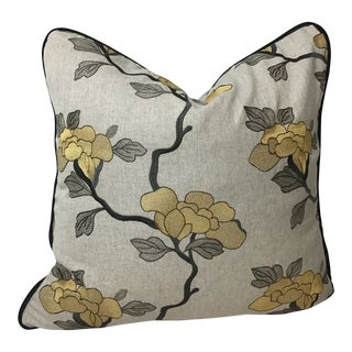 Embroidered Mount Vernon Collection From Fabricut Pillow For Sale