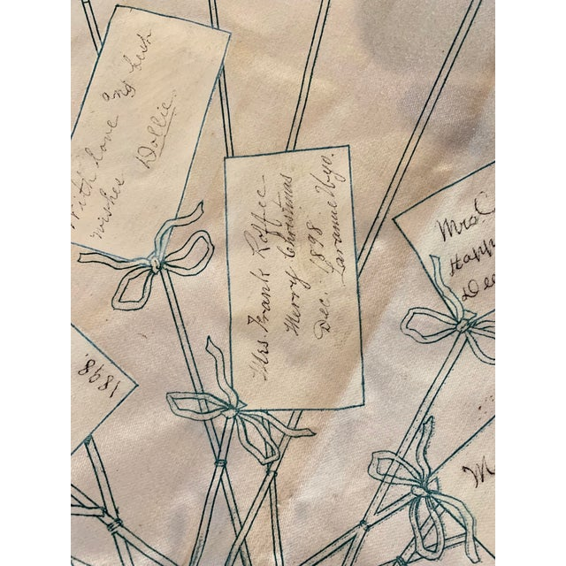 Textile 1800s Bicycle Hand Signed Pillow Print For Sale - Image 7 of 11